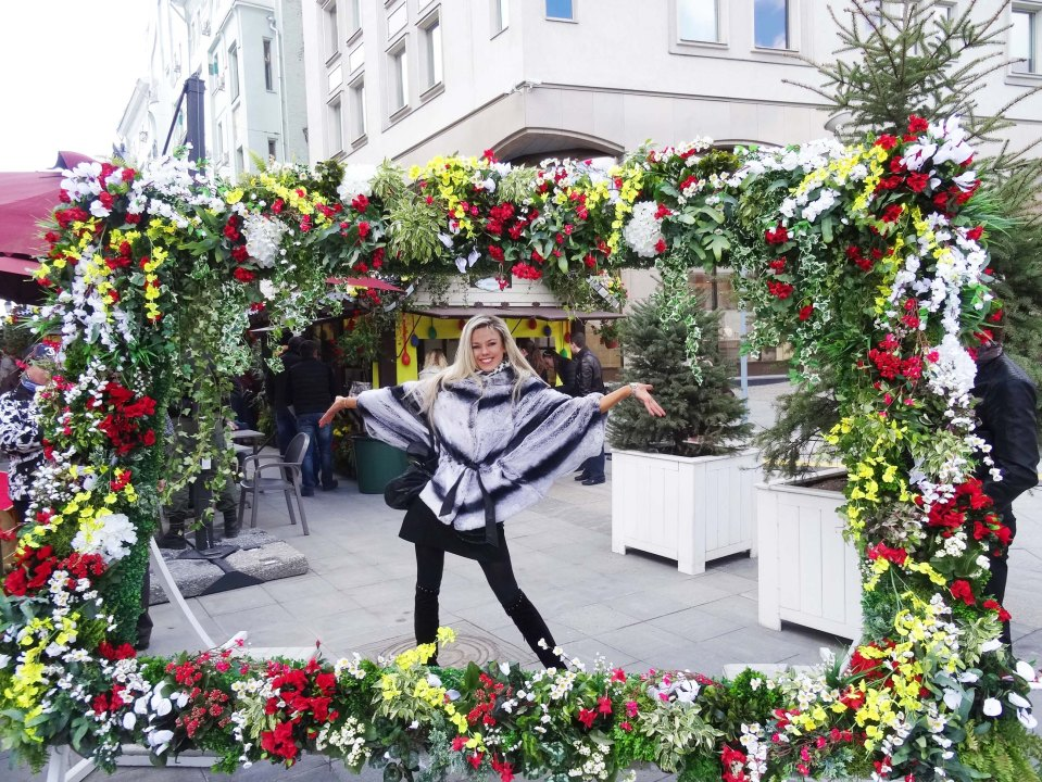 Thats how much we love flowers in Russia